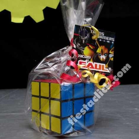 transformers recuerdo cubo rubik