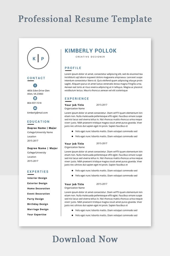 Resume Template Professional Resume Template Instant Download Resume Template Word Cv Cv Template Resume Template Free In 2021 Resume Template Resume Template Professional Resume Template Word
