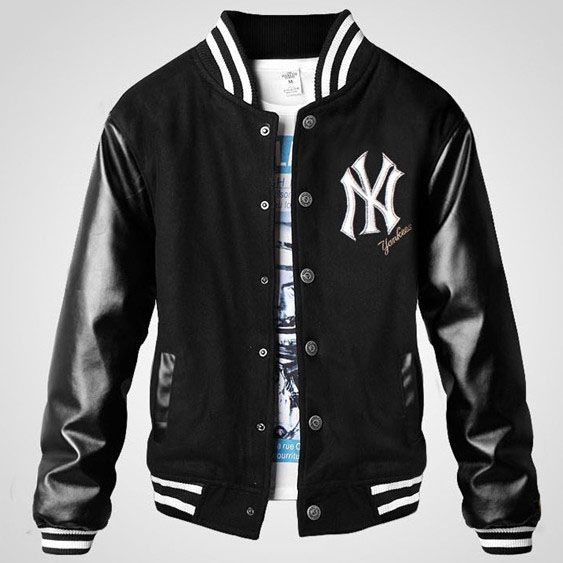 NY Yankee thicken Mens Letterman jacket | MEN OUTFITS