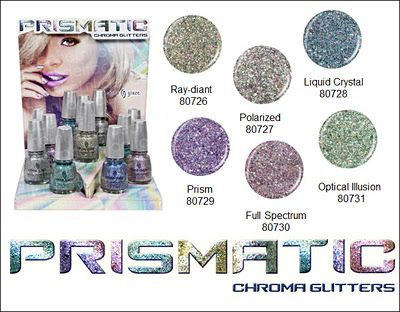China Glaze Prismatic Chroma Glitters - Spring 2012