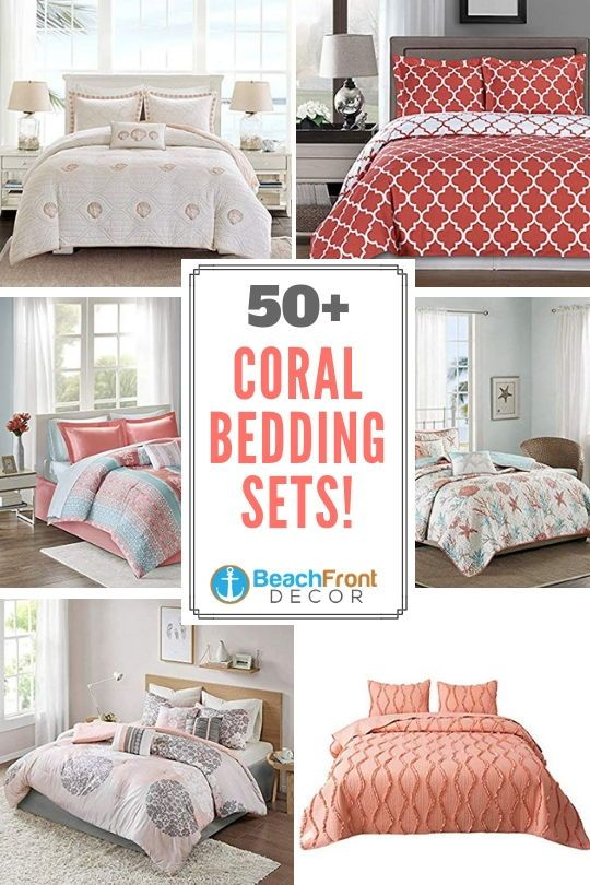 Coral Bedding Sets And Comforters Beachfront Decor Coral Bedding Coral Bedding Sets Coral Duvet Cover