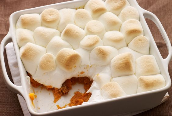Sweet Potato Casserole with Marshmallow Topping