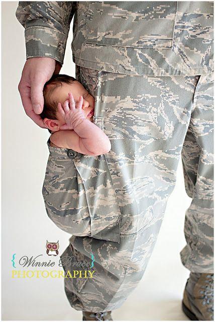 Love this!! newborn. military.