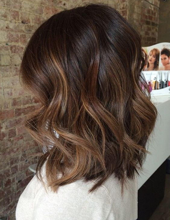 Cute Wavy Shoulder Length Hair Hair Styles Fall Hair Color For Brunettes Tiger Eye Hair Color