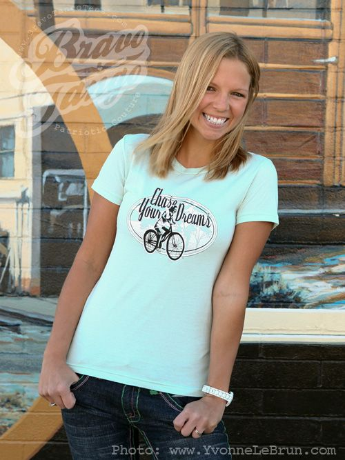 Chase Your Dreams: Whether  your dream is starting your own online t-shirt empire or just finding time for a quiet afternoon cup of coffee, this tee can remind you to keep your feet on the pedals.  $10.00