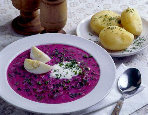 Vilnius, Lithuania (cold beet soup!)