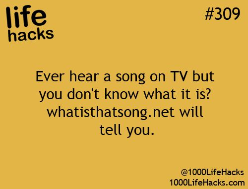 Ever hear a song on TV but you don't know what it is? whatisthatsong.net will tell you.