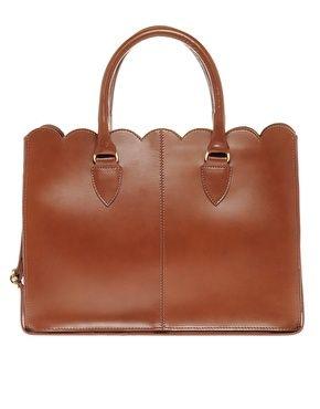 ASOS leather Scallop Edge Shopper