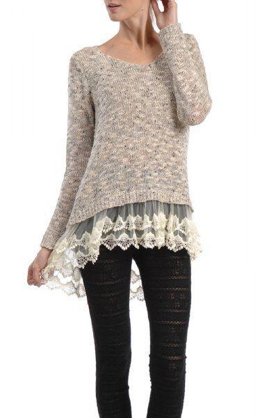 I like the sweater.: