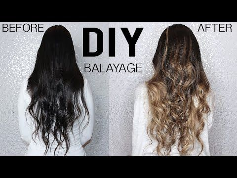 How To Diy Balayage Ombre Hair Tutorial At Home From Dark To Blonde Youtube In 2020 Diy Balayage Ombre Hair Tutorial Diy Hair Dye