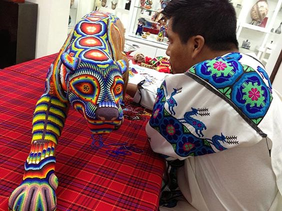 Artisan at the San Jose del Cabo art district, featuring his expertise in painting!