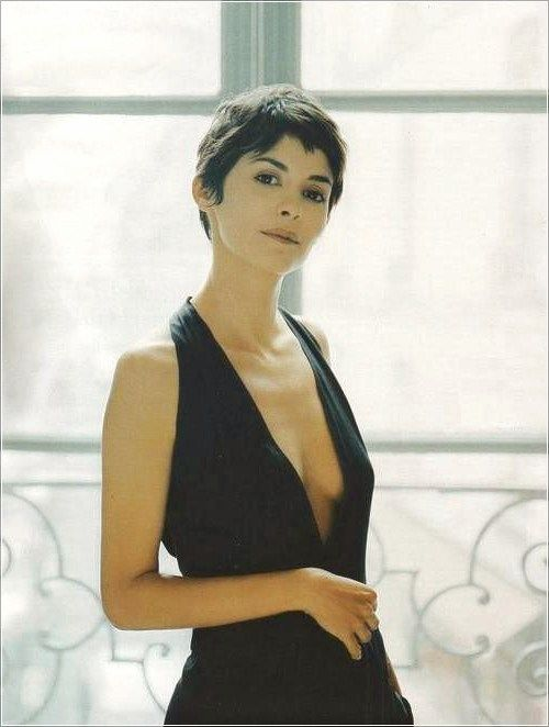 Short Hair Inspiration By Audrey Tautou Pixie Haarschnitt
