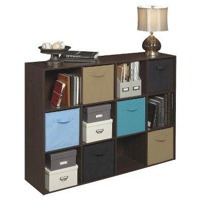 Closetmaid Cubeicals 12 Cube Organizer Shelf Espresso Cube Shelving Unit Cube Organizer Shelves