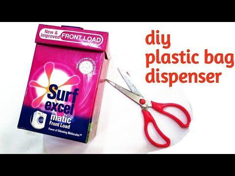 Dispensador De Bolsas How To Transform Surf Excel Box Into Plastic Bag Dispenser Diy Cardboard Plastic Bags Diy Dispenser Diy Diy Bag
