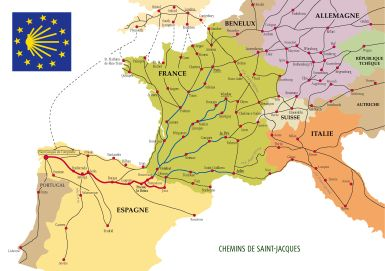 Which route should you take for the Camino de Santiago?: Camino de Santiago routes through Europe: