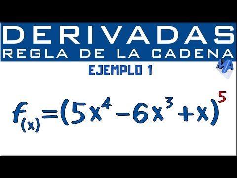 Derivadas Regla De La Cadena Función Compuesta Ejemplo 1 Youtube Regla De La Cadena Trucos Para El Estudio Función Compuesta