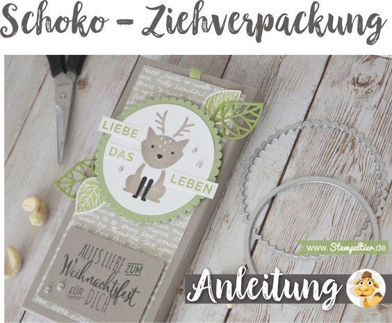 Anleitung für schokolade lindt verpacken verpackung Ziehverpackung geschenk mitbringsel stampin up stempeltier
