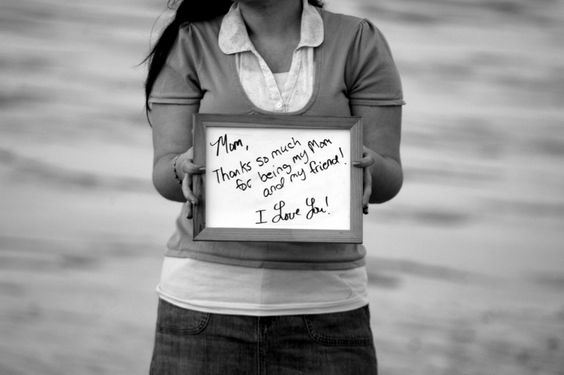 My daughter's special message to me during her Senior Picture photo shoot!