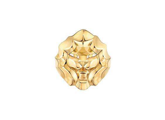 Bague Lion en or jaune grand modèle, Chanel