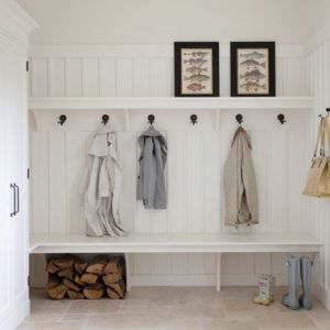 height of paneling bench open below for shoes mud room