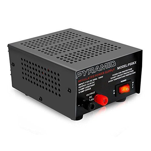 Universal Compact Bench Power Supply 6 Amp Linear Regulated Home Lab Benchtop Ac To Dc 12v Converter W 13 8 Volt D Power Supply Power Supply Design Pyramids
