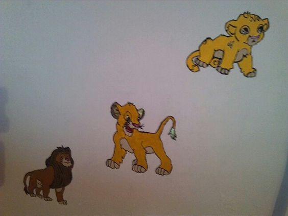 Simba na parede