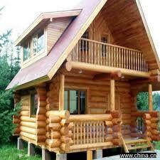 Resultado de imagen para caba a piedras escalones madera - Casa de madera rustica ...