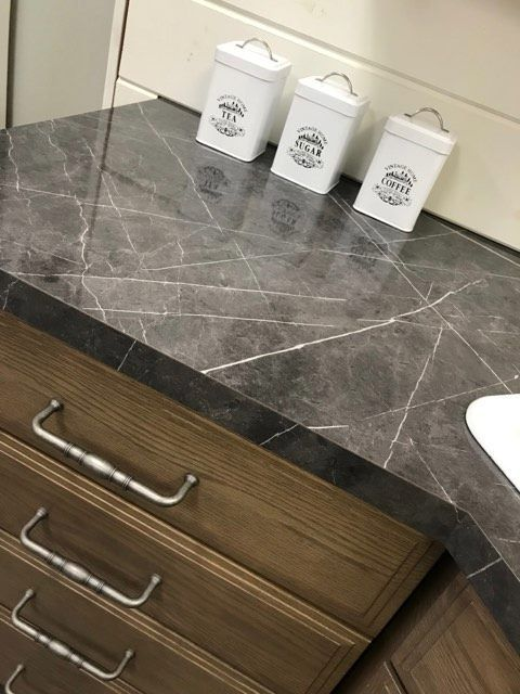 Laminate Ferro Grafite Credit Volkman Kitchen Bath