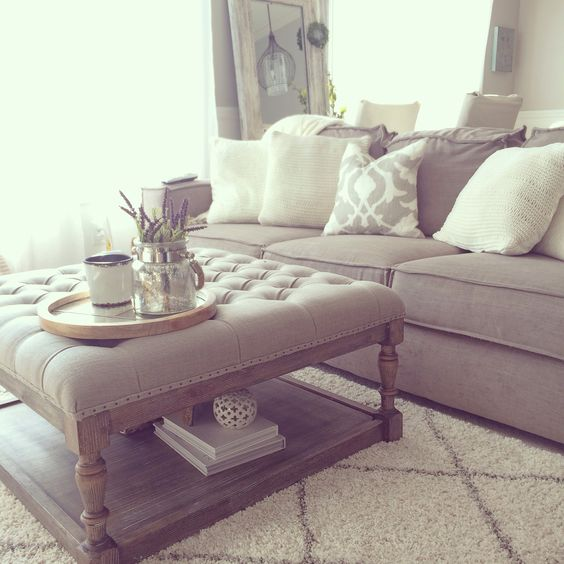 Overstock tufted ottoman - living room