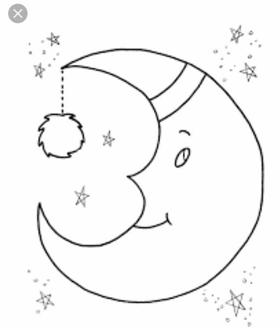 25 Desenhos De Lua Para Pintar Colorir Ou Imprimir Paginas Para