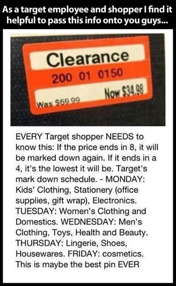 Target sales? Didn't know all of this!