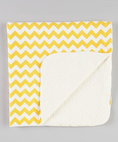 Yellow Zigzag Stroller Blanket