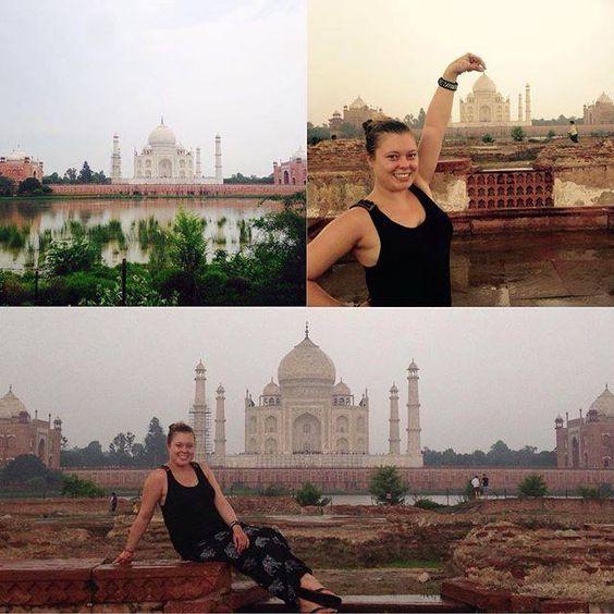 #mytajmemory Exploring India #onceinalifetime #incredibleindia #lucky #IC2015 #happy by stefanie.evita #IncredibleIndia #tajmahal