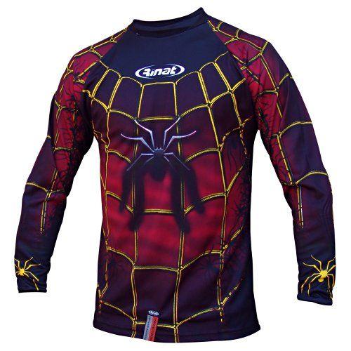 Rinat black spider adult goalie jersey