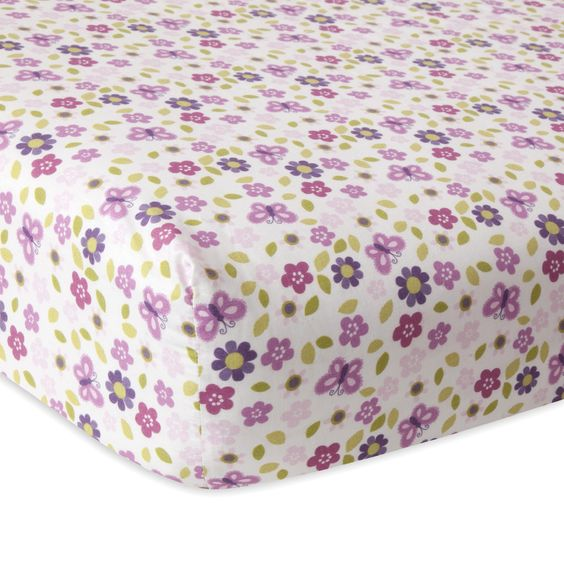 Hopscotch Jungle Floral Fitted Crib Sheet