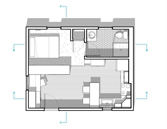 Sq Ft Apartment Layout Mulberry Sq Ft Studio Apartment