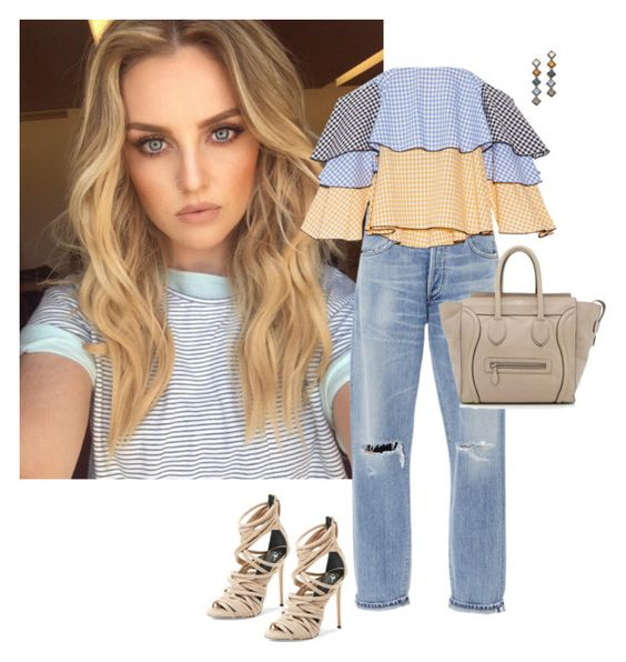 """""""Untitled #1110"""" by randeee ❤ liked on Polyvore featuring Citizens of Humanity, Caroline Constas, Giuseppe Zanotti, CÉLINE and DANNIJO"""