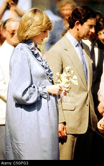 April 22, 1982: Prince Charles and Princess Diana on a walkabout as they attend a Duchy of Cornwall luncheon on St Mary's, Scilly Isles.
