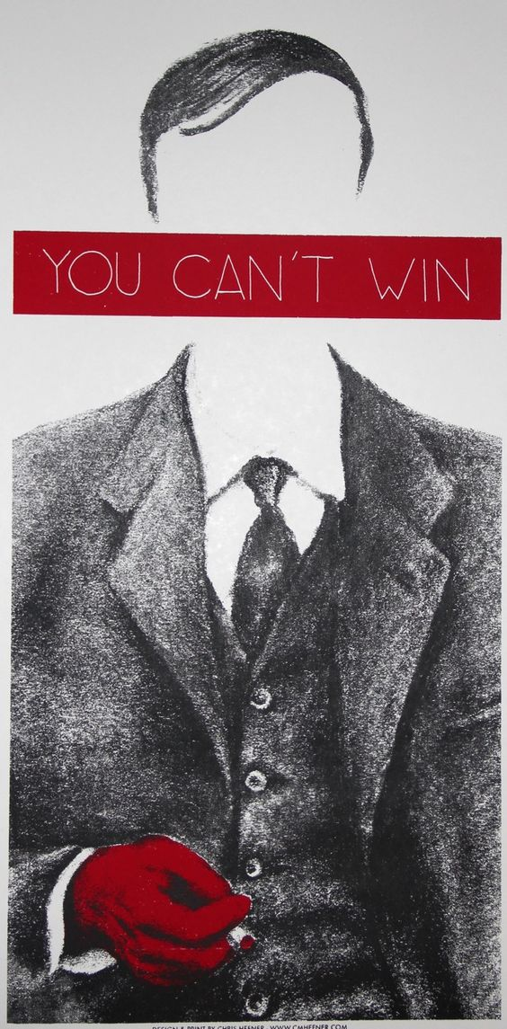 Celebrating the William S Burroughs' Centennial with an exclusive screen print by Chris Hefner.   'You Can't Win' references the author Jack Black, circa 1929
