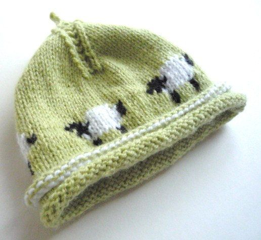 Knitting On The Round Hat : Baby hat knitting patterns in the round dpns ply