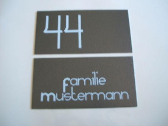 Hausnummer + Namensschild Wunschtext+ Zahl Alu von Don Frederec auf DaWanda.com
