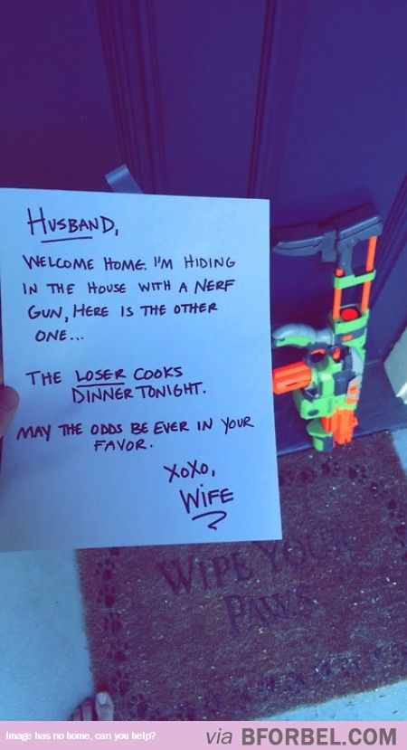 Pretty cool game idea for the husband.  Could even get the kids in on the fun for Father's Day.