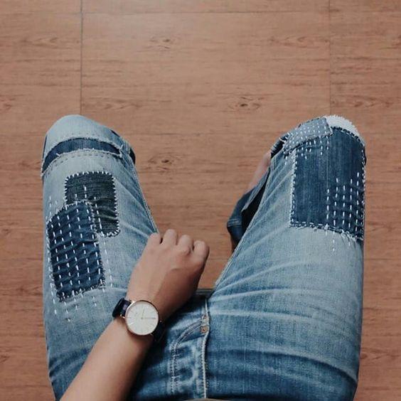 Sashiko boro de @batu_essentials