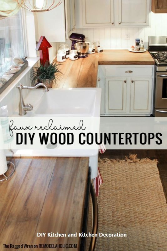 10 Absolutely Creative Diys For Your Kitchen 1 Open Shelves In 2020 Diy Kitchen Renovation Wooden Countertops Kitchen Diy Kitchen Countertops