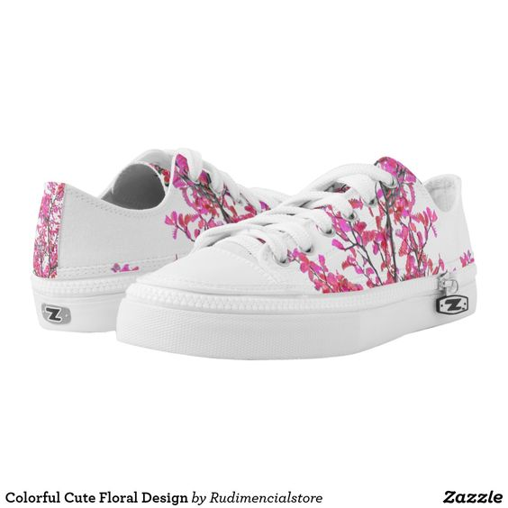 Cute Floral Design Zazzle Low-Top Sneakers