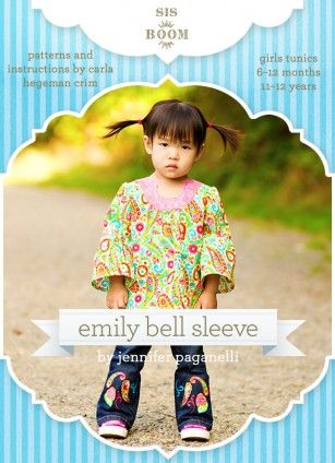 6 months - 12 years Emily Bell Sleeve Tunic Pattern
