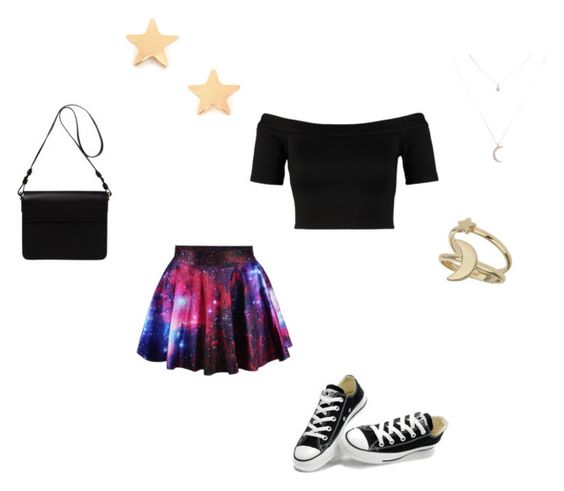 """Untitled #12"" by alien-galaxy ❤ liked on Polyvore featuring Miss Selfridge, Converse, Orla Kiely and Wet Seal"