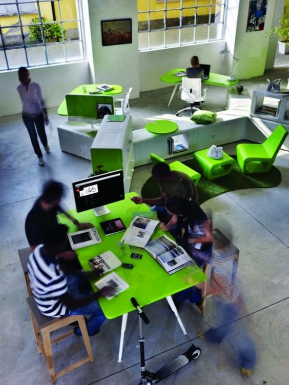innovative office furniture work space with green decorations awesome green office chair