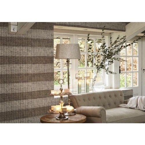Riviera Maison behang 18320 - Rustic Rattan Strip - online bestellen bij behangwebshop.nl bij Behangwebshop: