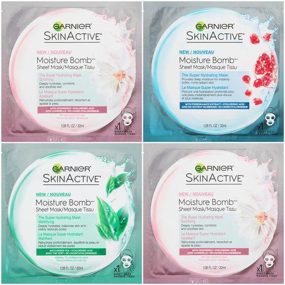 Garnier SkinActive Moisture Bomb The Super Hydrating Sheet Masks (